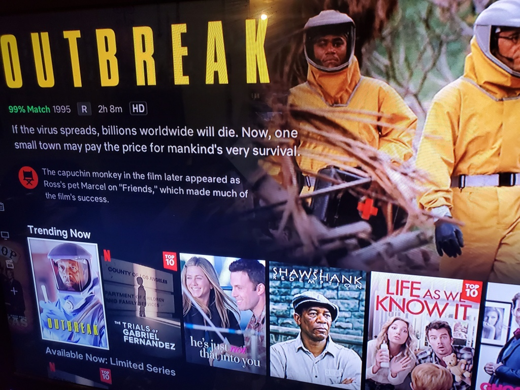 Outbreak 1995 Trending On Netflix Movies Movies Movies